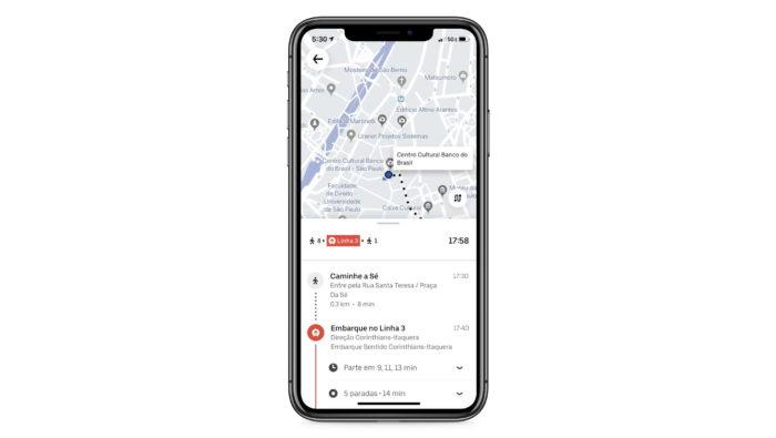Uber Transit em São Paulo
