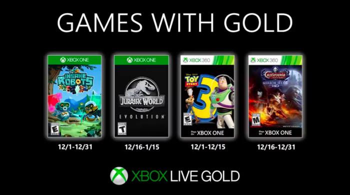 jogos grátis do xbox live gold em dezembro