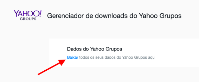 baixar dados yahoo groups