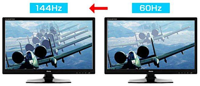 60 Hz vs. 144 Hz / frequência hertz