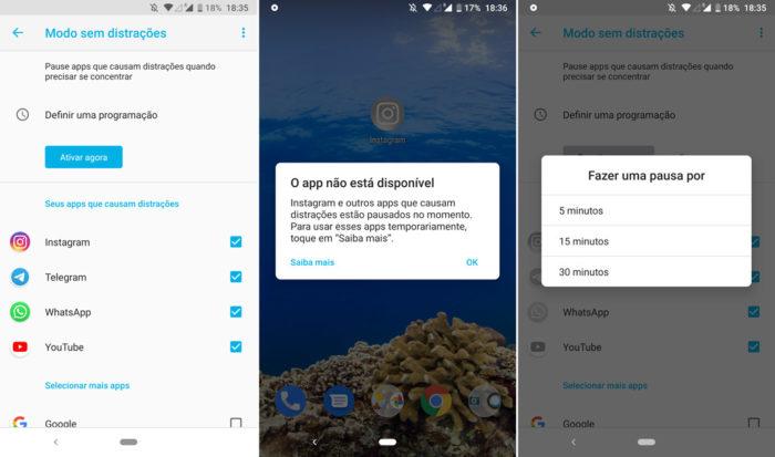 Android começa a liberar modo sem distrações