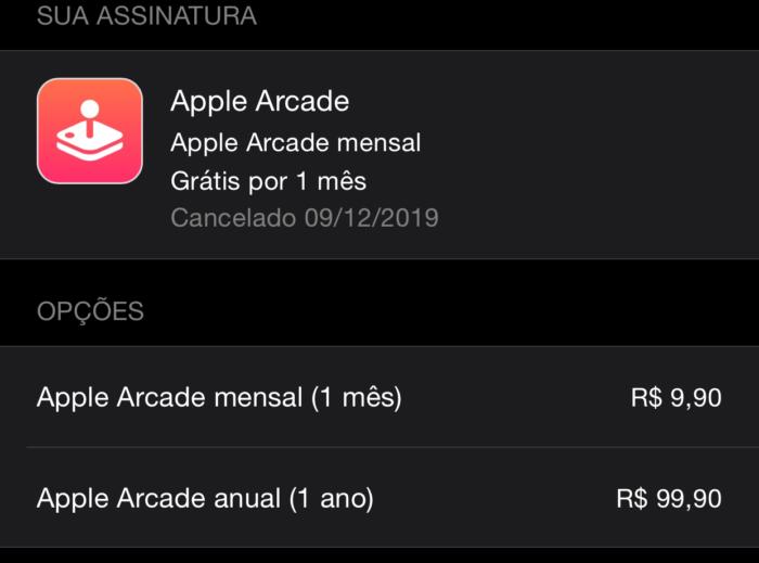 apple arcade assinatura anual