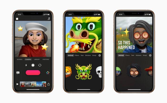 Clips permite criar vídeos com Memoji e Animoji