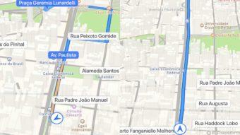 Apple Mapas lança navegação curva a curva no Brasil
