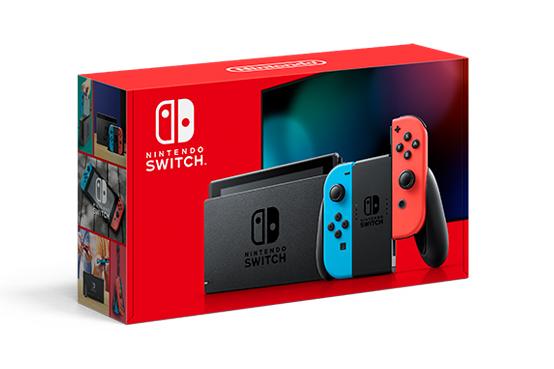 caixa do novo nintendo switch (2019)
