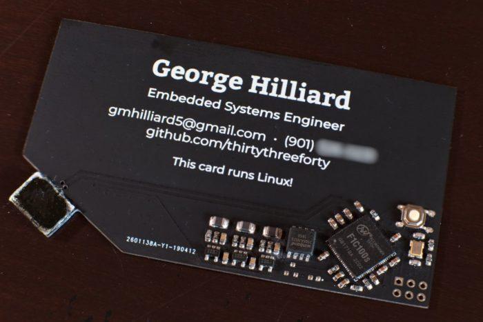 Cartão de visita com Linux