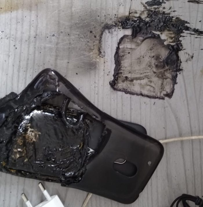 Motorola pega fogo