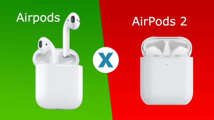 COMPARATIVO - Airpods 1 e 2