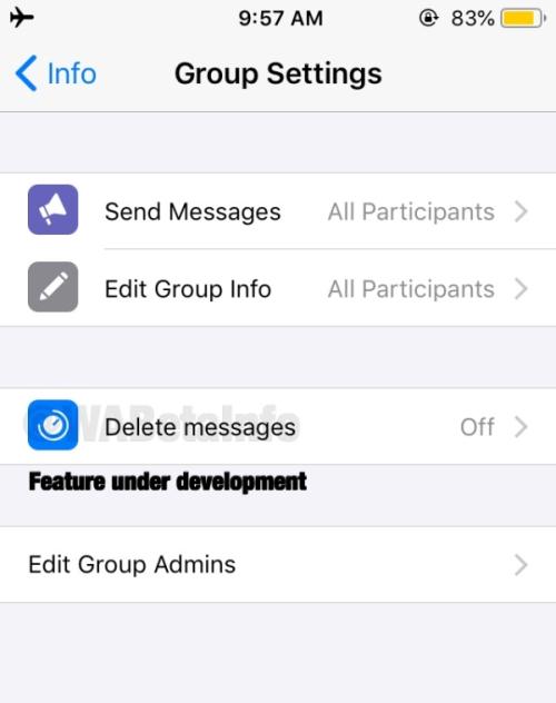 Apagar mensagens em grupo - WhatsApp