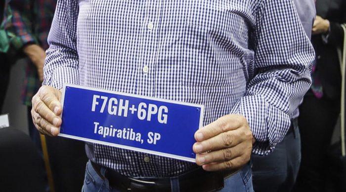 Endereço Plus Code (foto original: Governo do Estado de São Paulo)