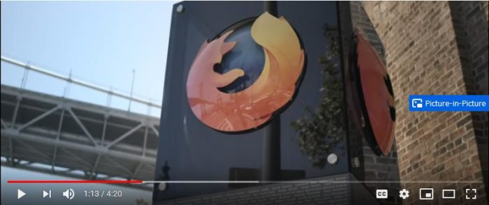 Firefox - picture-in-picture