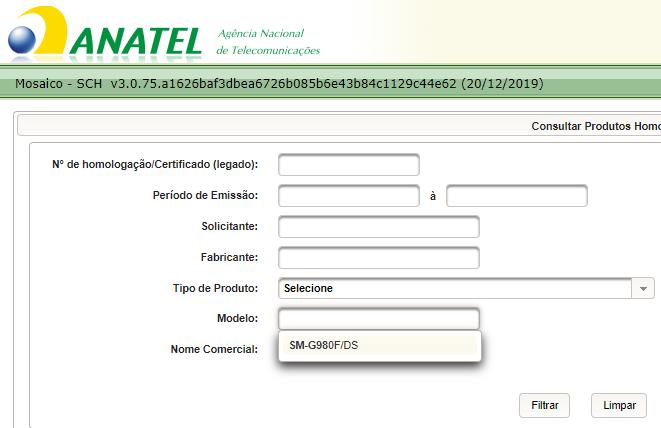 Galaxy S11e na Anatel