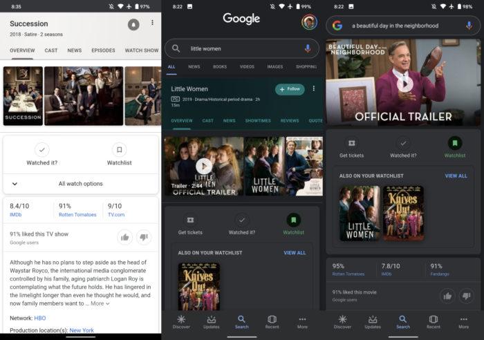 google filme serie