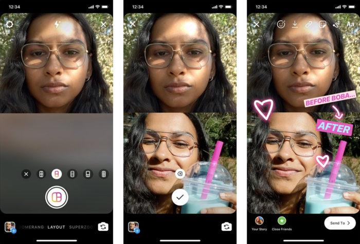Instagram Stories ganha modo Layout para postar várias fotos de uma vez