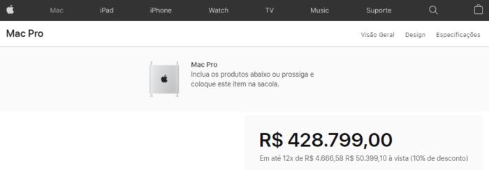 Apple Mac Pro - preços no Brasil