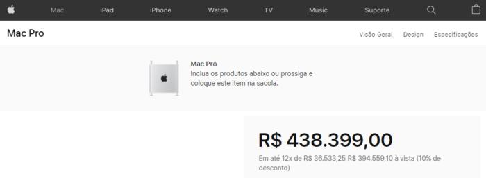 Apple Mac Pro - preço no Brasil