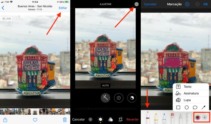 marcar foto para esconder informações no iphone