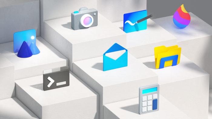 Ícones do Windows 10X