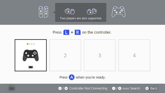 parear o pro controller com o switch
