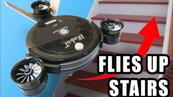 "Youtuber cria robô aspirador que voa para ""subir"" escadas"