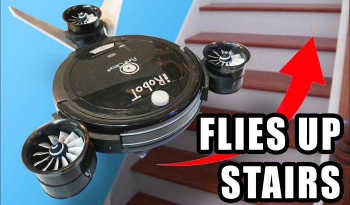 Robô aspirador Roomba voador