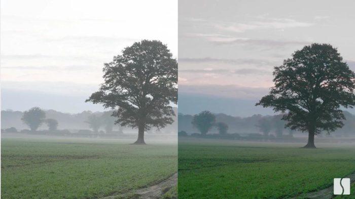 Foto otimizada pela Spectral Edge à direita