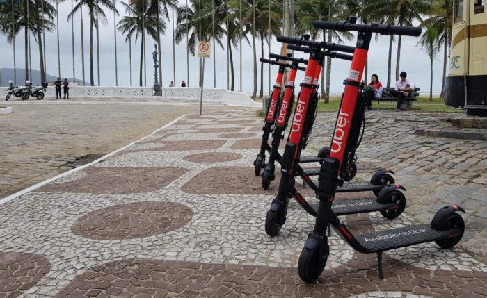 Patinete da Uber em Santos