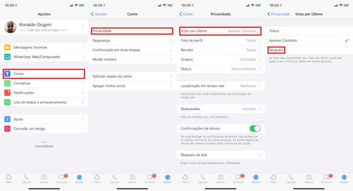 iPhone / WhatsApp / como tirar o online do whatsapp