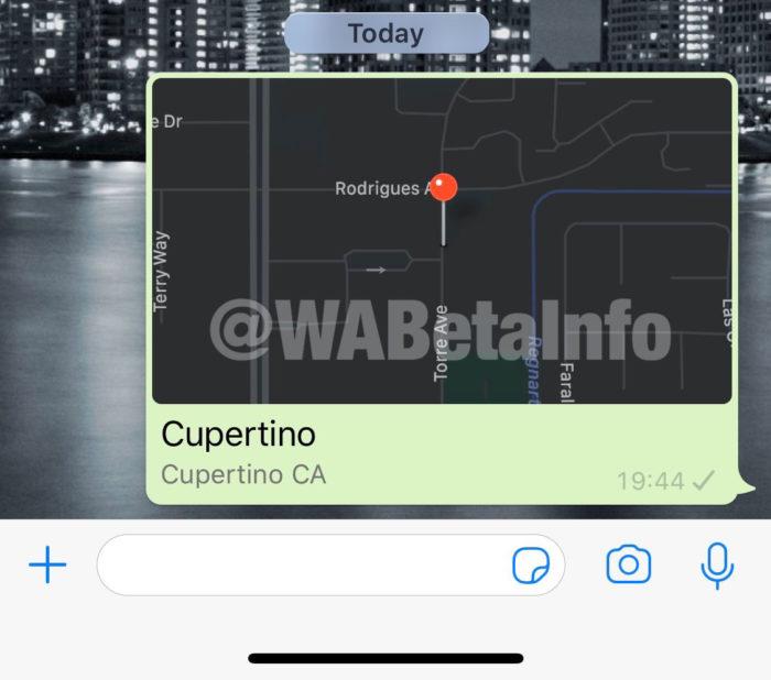 whatsapp beta mapa escuro