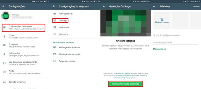 WhatsApp Business / catálogo whatsapp