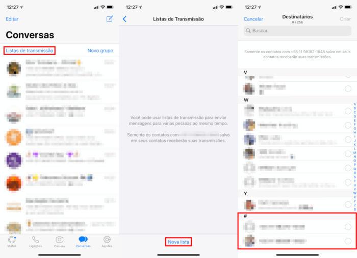 iPhone / WhatsApp / saber quem tem seu número do WhatsApp