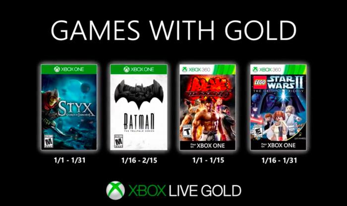 jogos grátis do xbox live gold em janeiro de 2020