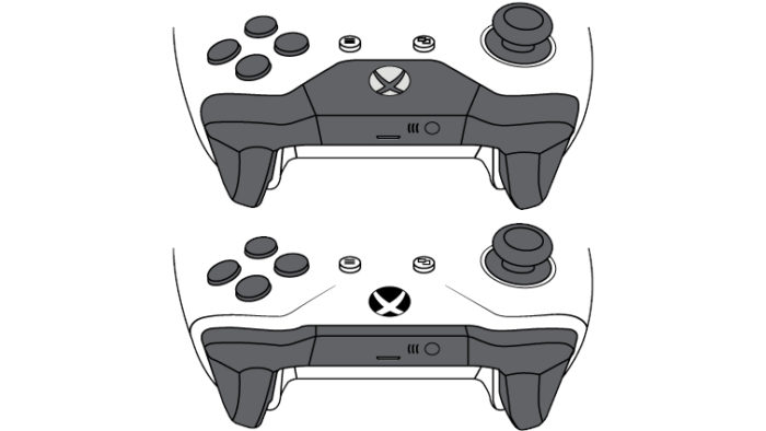 Controles do Xbox One / controle iphone