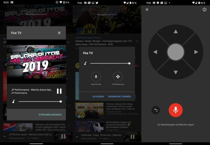 YouTube para Android e iOS ganhou controle remoto (Foto: Reprodução/SmartDroid)