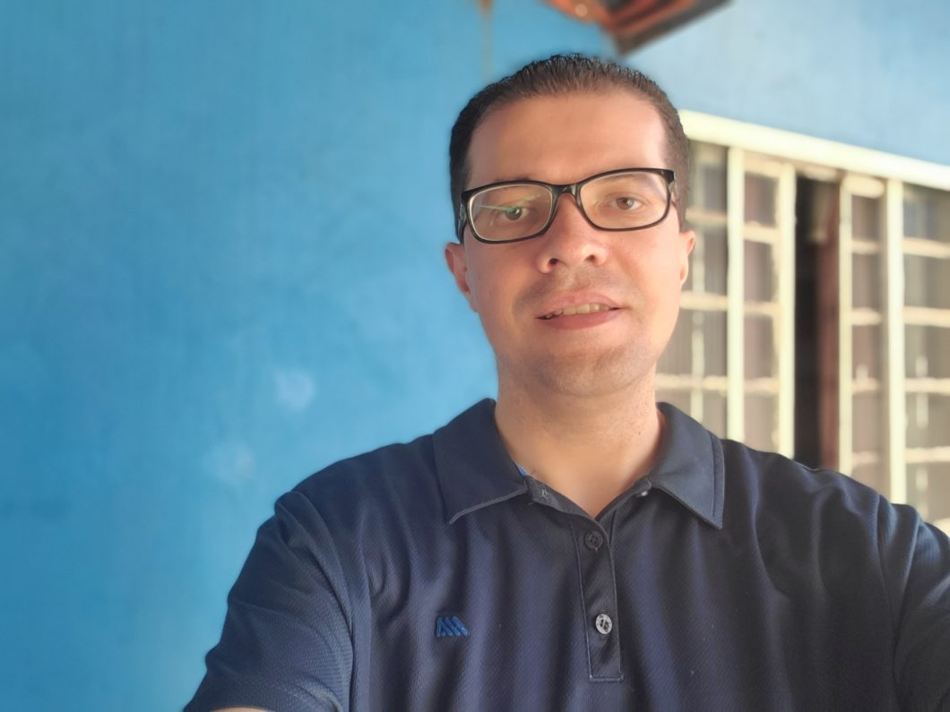 Selfie registrada com o Samsung Galaxy Tab S6