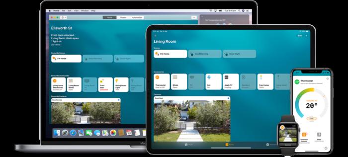 interface do apple homekit para deixar casa inteligente