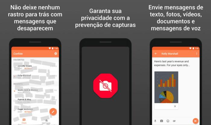 Android / Confide / como saber quem tirou print do whatsapp