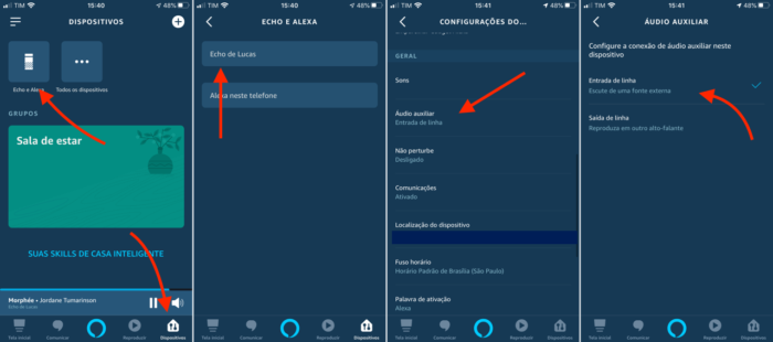 configurar amazon echo para funcionar sem wi-fi com entrada auxiliar