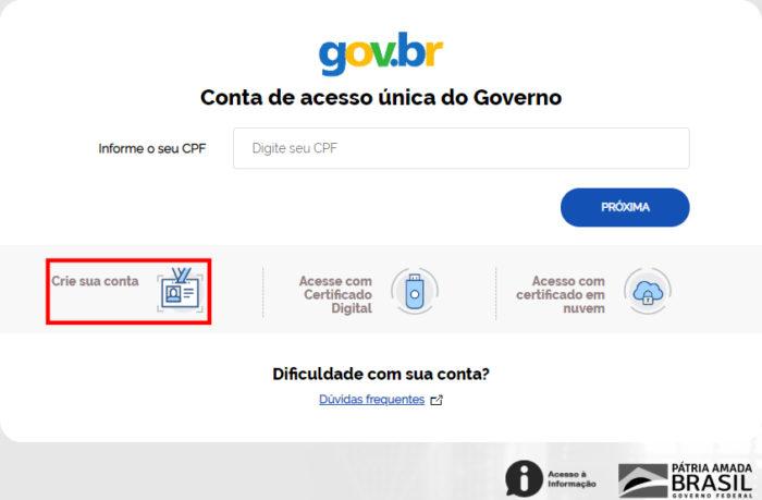Conta gov.br / carteira de estudante digital