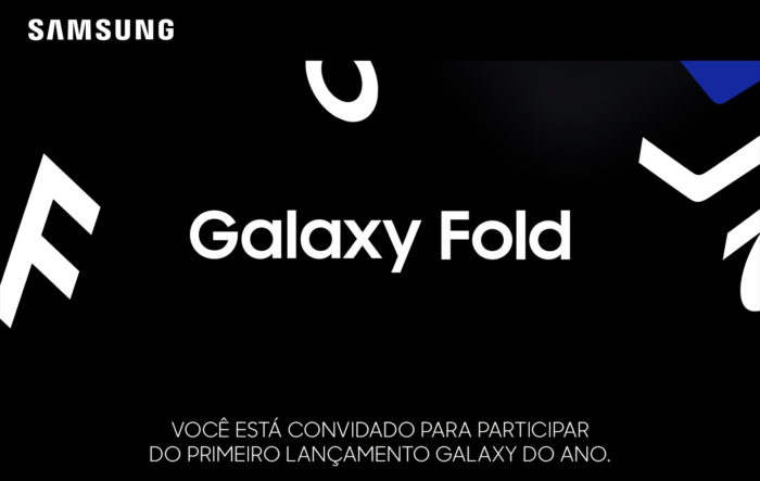 Convite Samsung Galaxy Fold Brasil