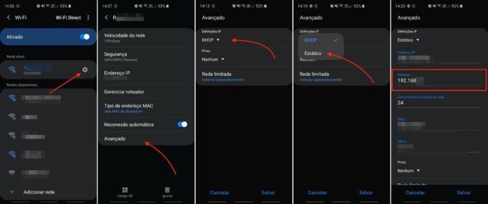 descobrir ip do roteador pelo celular android