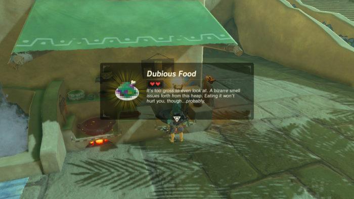 dubious food em zelda breath of the wild