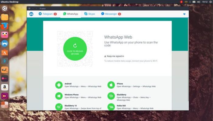 Ubuntu / Franz e WhatsApp Desktop / whatsapp linux