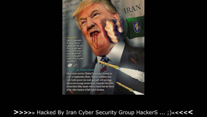 Site dos EUA invadido pelo Irã