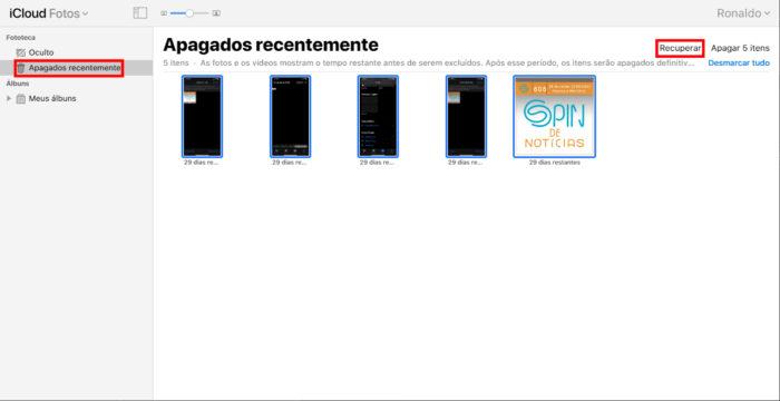 Apple / iCloud / recuperar fotos icloud