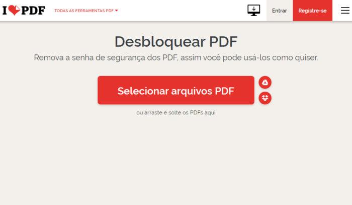 ILovePDF / desproteger pdf