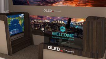 LG mostra conceito de TV OLED enrolável que desce do teto