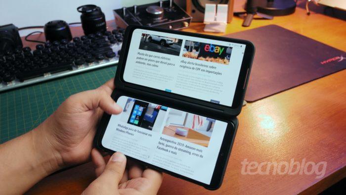LG G8X ThinQ (Imagem: Tecnoblog)