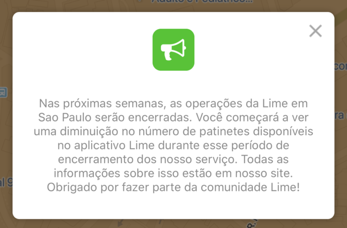 Nas próximas semanas, as operações da Lime serão encerradas