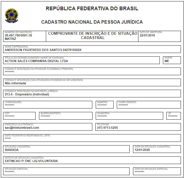 Mi Store Brasil - CNPJ Action Sales